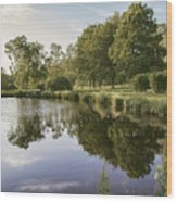 Countryside Park Pond Wood Print