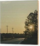 Countryside Sunset Wood Print