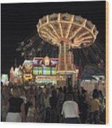 County Fair At Night Wood Print