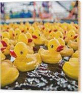 County Fair Rubber Duckies Wood Print