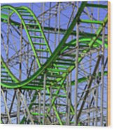 County Fair Thrill Ride Wood Print