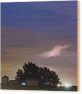 County Line 1 Northern Colorado Lightning Storm Wood Print by James BO  Insogna