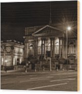 County Sessions House By Night Liverpool Wood Print