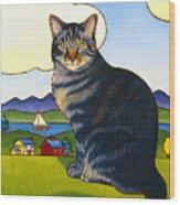 Coupeville Cat Wood Print
