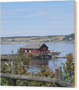 Coupeville Wharf II Wood Print