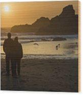 Couple At Harris Beach 0197 Wood Print