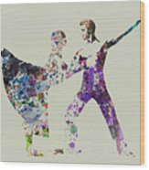 Couple Dancing Ballet Wood Print