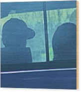 Couple In The Truck Wood Print