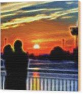Romantic Sunrise. Wood Print