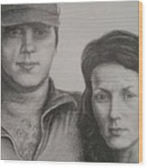 Couple Portrait 2 Wood Print