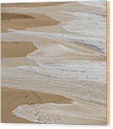 Couple Walking Makena Beach Wood Print