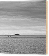 Couple Walking On A Sandbank Wood Print