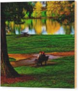 Couple's Therapy Wood Print