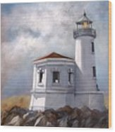 Couquille River Lighthouse  Bandon Ore. Wood Print