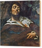 Courbet: Self-portrait Wood Print