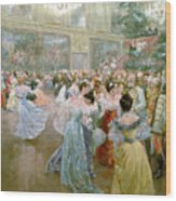 Court Ball At The Hofburg Wood Print by Wilhelm Gause