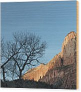 Court Of The Patriarchs Sunrise Zion National Park Wood Print