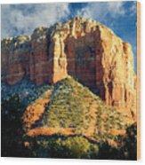 Courthouse Butte - Sedona Arizona Wood Print