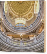 Courthouse Dome Wood Print