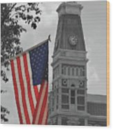 Courthouse In America Wood Print