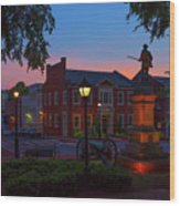 Courthouse Square Wood Print
