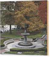 Courthouse Square In Rockville Maryland Wood Print