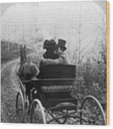 Courtship/carriage Ride Wood Print