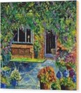 Courtyard 79 Wood Print