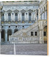 Courtyard At The Doge Palace Wood Print