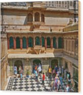 Courtyard, City Palace, Udaipur Wood Print