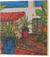 Courtyard in Rancho Santa Fe Wood Print