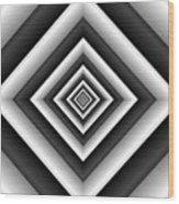 Covariance  6 Modern Geometric Black White Wood Print