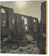 Covehithe Abbey Wood Print