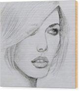 Cover Girl Wood Print