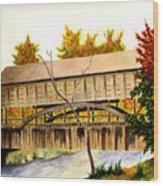 Covered Bridge - Mill Creek Park Wood Print