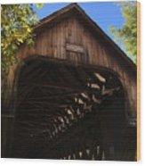 Covered Bridge In Woodstock Wood Print