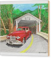 Covered Bridge Lincoln Wood Print