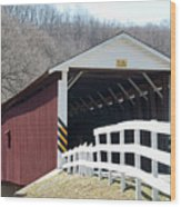Covered Bridge Pa Wood Print