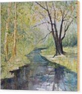 Covered Bridge Park Wood Print