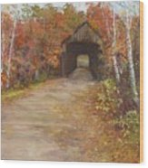 Covered Bridge  Southern Nh Wood Print by Jack Skinner