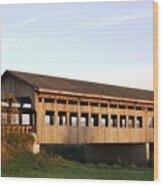 Covered Bridge To Rockwood Wood Print