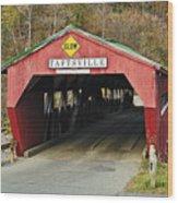 Covered Bridge Vermont Wood Print