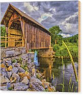 Covered Bridge, Vt Wood Print