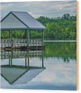 Covered Dock Wood Print