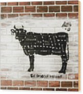 Cow Cuts Wood Print