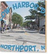 Cow Harbor Day Fun Wood Print