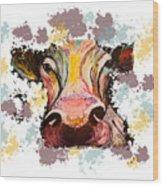 Cow Splotch Wood Print