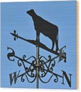 Cow Weathervane. Wood Print