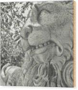 Cowardly Lion Wood Print