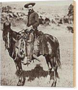 Cowboy, 1887 Wood Print